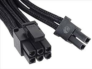 Silverstone SilverStone社製電源専用PCI-E(6+2pin)スリーブモジュラーケーブル 2コネクタ SST-PP06B-2PCIE70/A