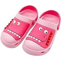 Zyernar Boys Girls Garden Clogs Slippers,Kids Cartoon Slides Sandals Clogs Slip-on Beach Pool Shower Slippers Shoes