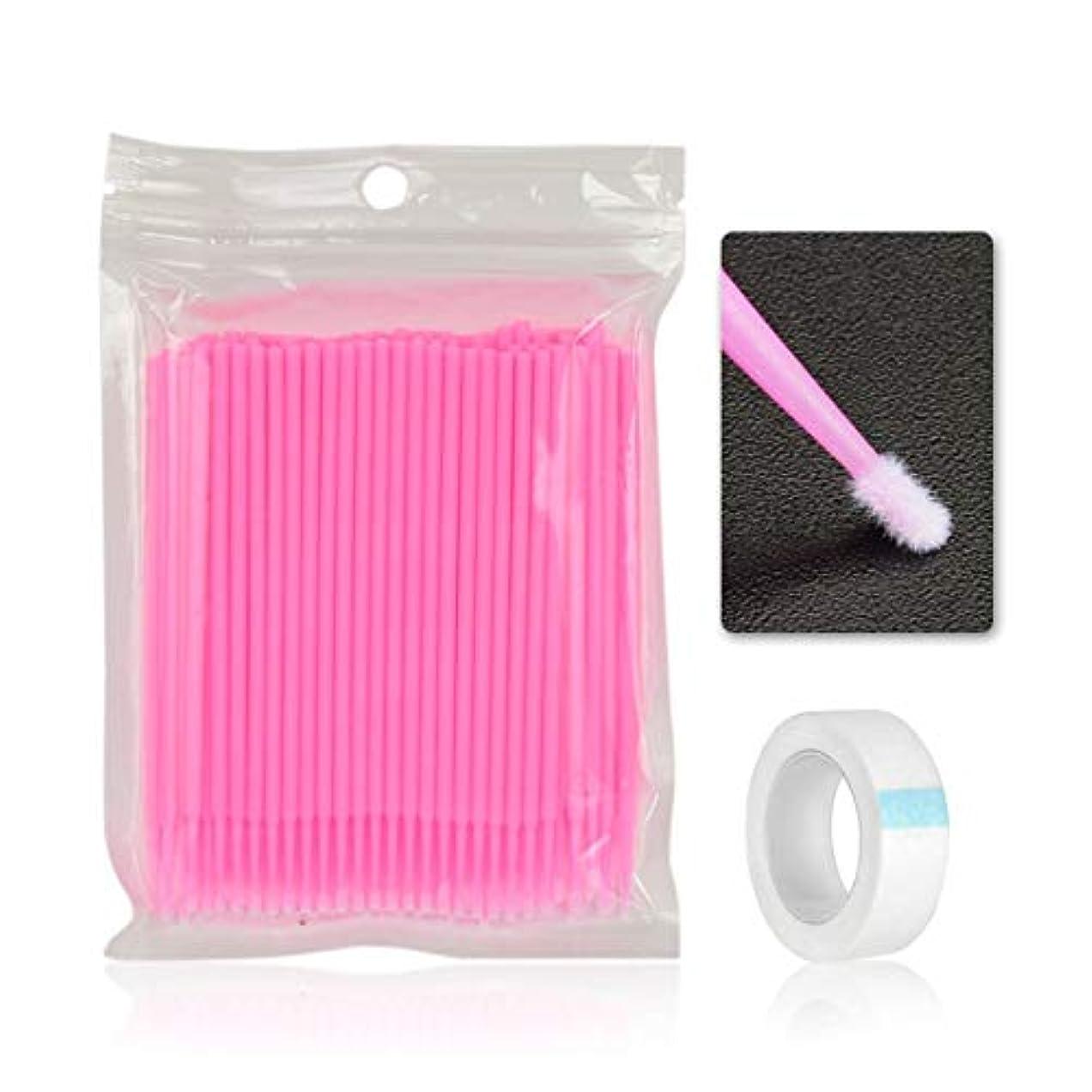 100ピースクリーニングスティック綿棒ラッシュブラシ使い捨て材料歯アプリケーター唇まつげブラシまつげプラスター (Panda)