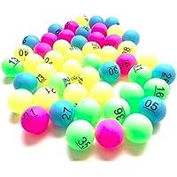 Re mail order (Re通販) ビンゴ ボール ナンバー 入り 抽選 カラフル ピンポン玉 ボール 番号 No 1-50 51-100 (1-50)