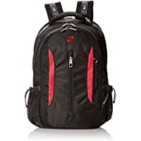 Swiss Gear SA1288 Black with Red Laptop Backpack - Fits Most 15 Inch Laptops and Tablets