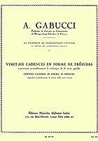 ガブッチ : 26の前奏曲形式によるカデンツ (クラリネット教則本) ルデュック出版