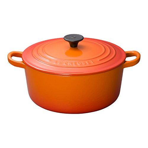 ルクルーゼ ココット ロンド ホーロー 鍋 IH 対応 22cm オレンジ