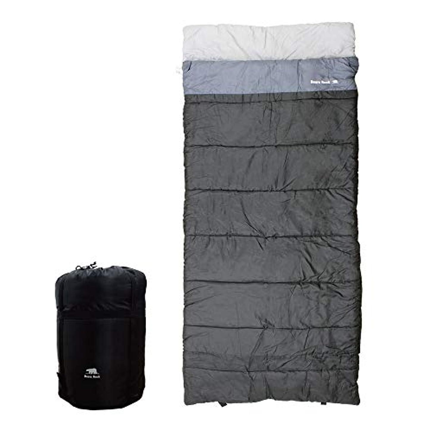 韻高原混合【Bears Rock】 寝袋 シュラフ 封筒型 4シーズン対応 ねぶくろん TX-701
