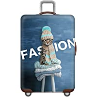 "Xinvivion Elastic Cartoon Cat Luggage Cover Protector (NOT SUITCASE) Thicken Durable Suitcase Cover for 19"" to 32"" (Size s/m/l/xl)"