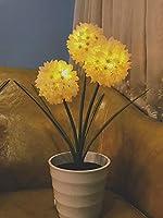 SCCL LED人工植木鉢テーブルライト、暖かい照明イエローパープルバッテリー+ USBデュアルパーパスモデルライブランプ あなたの家に心を追加 (色 : Yellow)