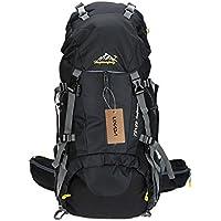 Lixada 50L Hiking Trekking Backpack Waterproof Outdoor Sport Camping Backpack Bag Mountaineering Climbing Knapsack Rucksack with Rain Cover