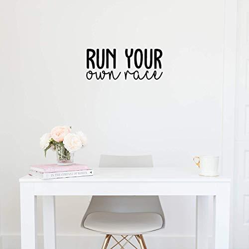 Vinyl Wall Art Decal - Run Your Own Race - 9