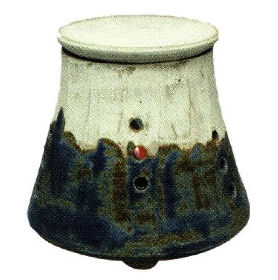 囲まれた静けさ自体常滑焼?焜清 カ39-01 茶香炉 青富士 径10.5×9.5cm