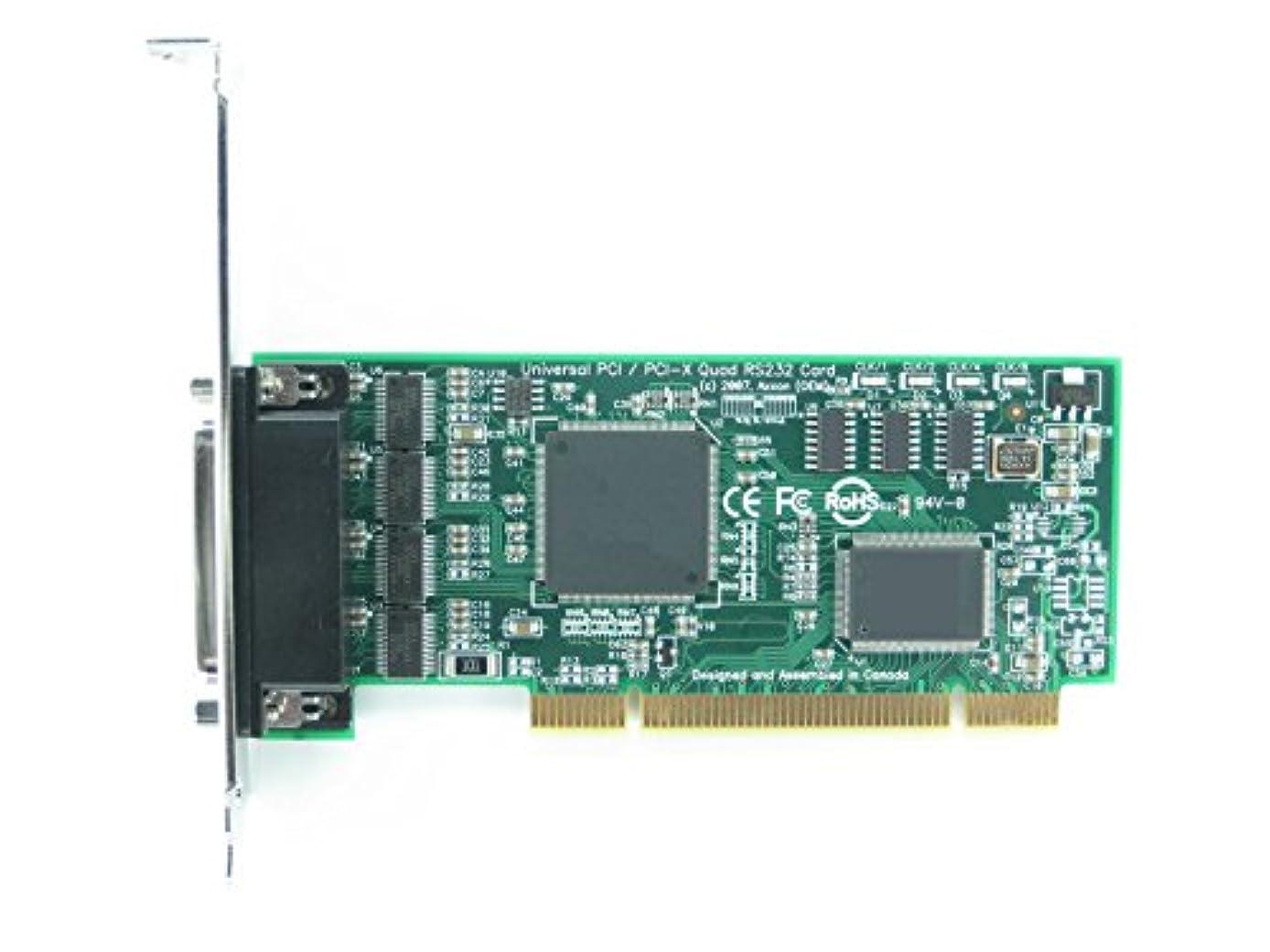 フォアマンかなり発生Axxon lf727kb 4s rs232ユニバーサルPCIシリアルカードアダプタ( Linux / Windows / VMware )