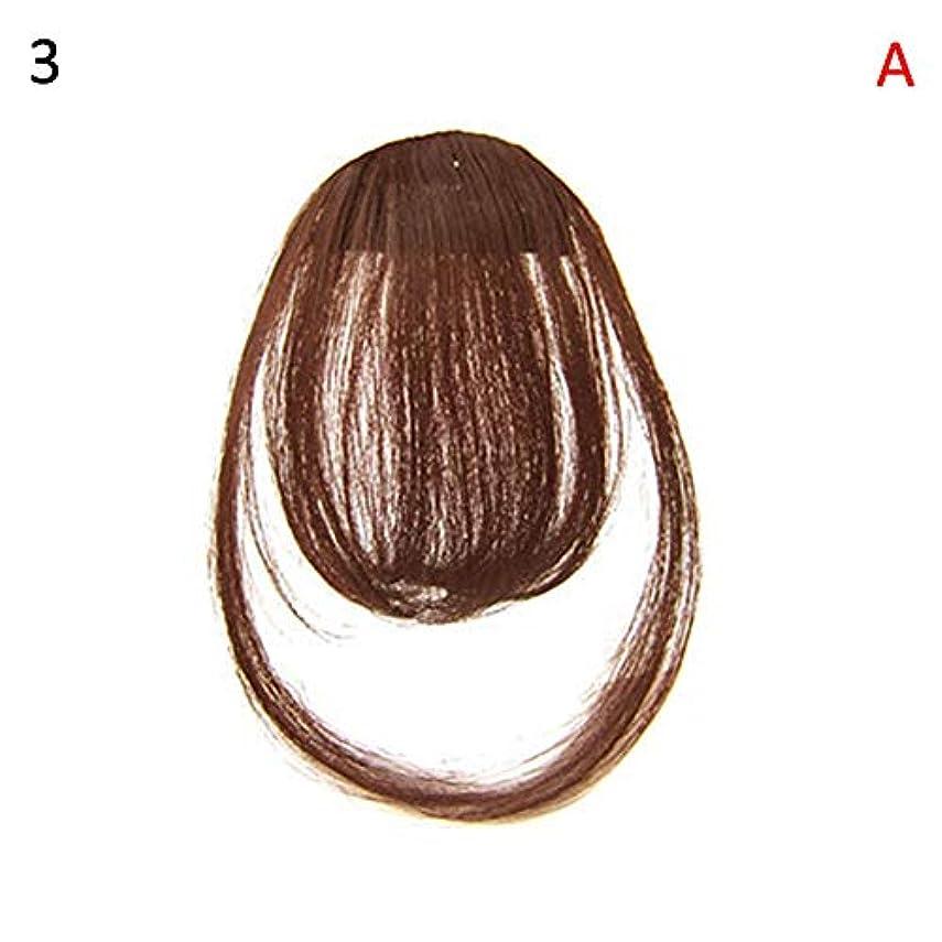 slQinjiansav女性ウィッグ修理ツールファッションレディース薄いクリップオンエアバンフロントフリンジウィッグヘアエクステンションヘアピース