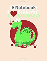E Notebook: dinosaur scientists  College Ruled - 50 sheets, 100 pages - 8 x 10 inches