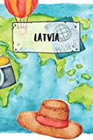Latvia: Ruled Travel Diary Notebook or Journey  Journal - Lined Trip Pocketbook for Men and Women with Lines