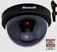 Wennowダミーフェイク監視セキュリティドームImitationで/屋外カメラW /点滅LED