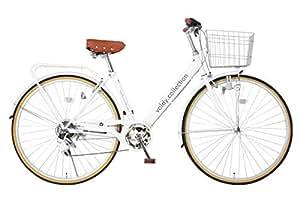 VOLDY ヴォルディ 自転車 27インチ ヨーロピアンシティサイクル ダイナモLEDライト シマノ6段変速 VOLDY VO-CTV276LED フレーム ホワイト