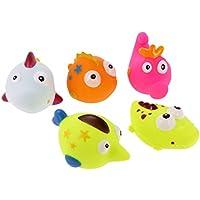 【ノーブランド品】 ソフト プラスチック製 可愛い 浮く  スクイズ サウンド ベイビー  赤ちゃん ウォッシュ 風呂  バース  プレイ おもちゃ 贈り物 4色選べる - 04