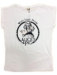 (アリスズピッグ) Alice's Pig ロゴTシャツ レディース