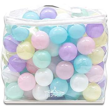 RiZKiZ(リズキズ) カラーボール パステル 6色 100個入り 直径5.5cm 【やわらかポリエチレン製】 (プール/ボールハウス/キッズプレイサークル用)