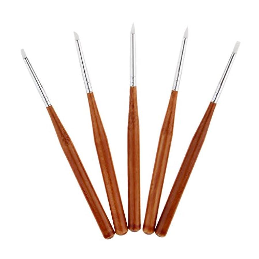 動作理想的にはゆるく5本 ネイルアートペン ネイルブラシ ネイル ブラシ 絵画 彫刻ペン シリコンヘッド 3タイプ選べる - 13cm