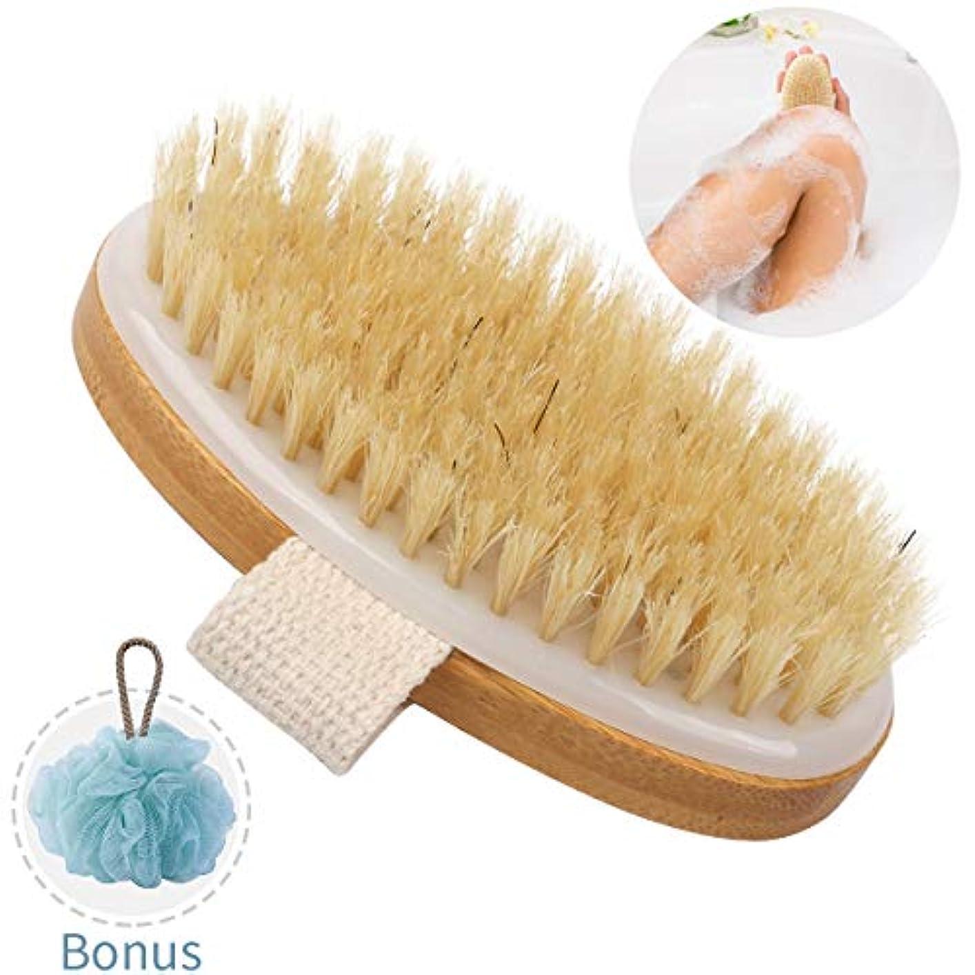認める小石メッセンジャーボディブラシ バスブラシ お風呂ブラシ シャワーブラシ 背中ブラシ - ボディ用マッサージブラシ やわらか 体洗いブラシ 滑り止め紐 背中ニキビ 角質除去 SPA 背中ブラシ 毛穴洗浄 美肌効果 フラワーボール付き