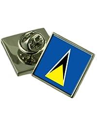 Saint Lucia フラグラペルピンバッジ 18 mm ギフトポーチを選択します