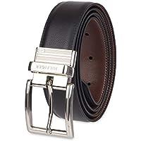 Tommy Hilfiger Men's Dress Reversible Belt With Polished Nickel Buckle Belt