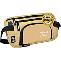 Travel Money Belt & Waist Pack - RFID Blocking Wallet, Waist Bag, Bottle Holder
