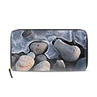 自然岩のテクスチャ石のパターン素材財布 コインケース 小銭入れ 収納 小型財布 カード収納 小さい おしゃれ 人気 軽量 携帯しやすい ギフトメンズ レディース