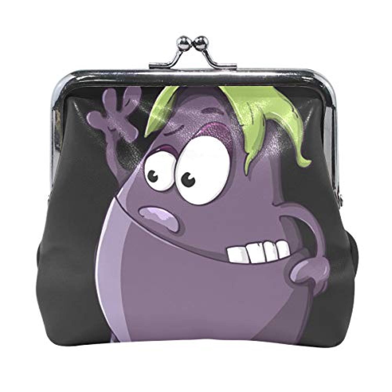 がま口 財布 口金 小銭入れ ポーチ なす 紫 Jiemeil バッグ かわいい 高級レザー レディース プレゼント ほど良いサイズ