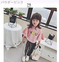 児童 夏 女 赤ちゃん 気質 レターズ シャツ コンフォート スピーカースリーブ ルース