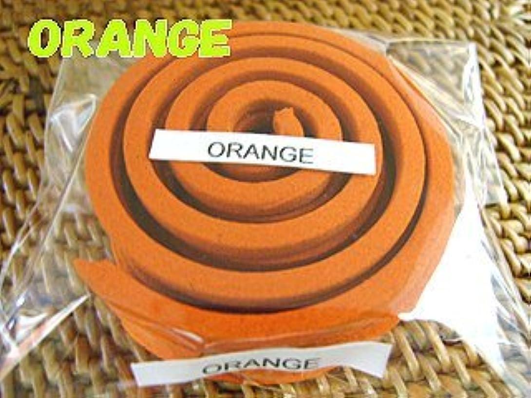 幾何学ドループ餌THAI INCENSE タイのうずまき香COILS INCENSE【ORANGE オレンジ】