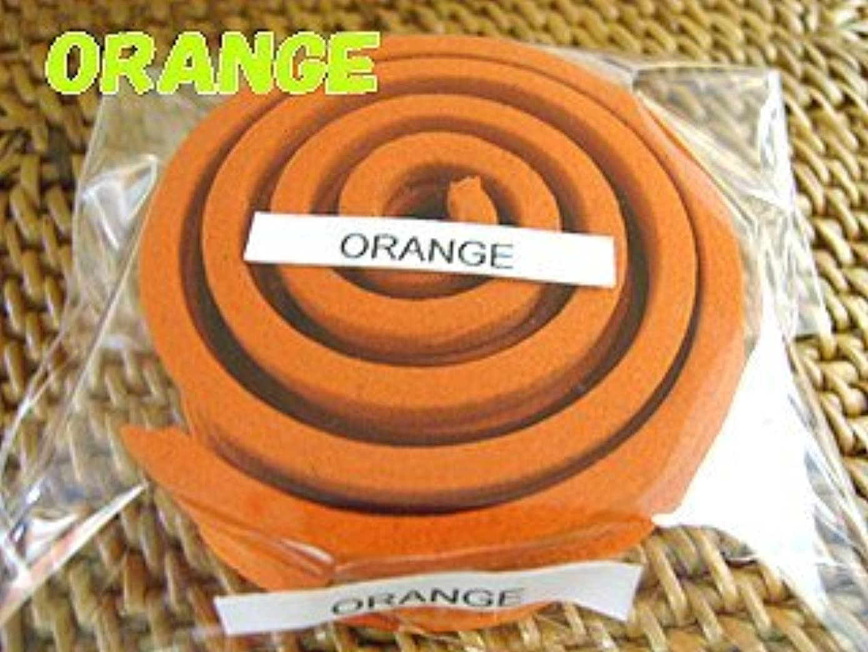 クモ不変一族THAI INCENSE タイのうずまき香COILS INCENSE【ORANGE オレンジ】
