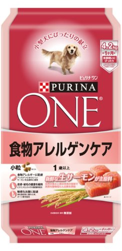 ピュリナワン 1歳以上 食物アレルゲンケア 小粒 サーモン 成犬用 4.2kg