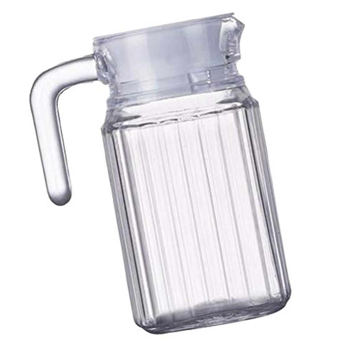 吐く起きて料理PETSOLA 冷水筒 茶ポット ウォーターピッチャー ジュースジャグ サービングジャグ 美しい瓶 多種選べる - ストライプジャグ, 500ml
