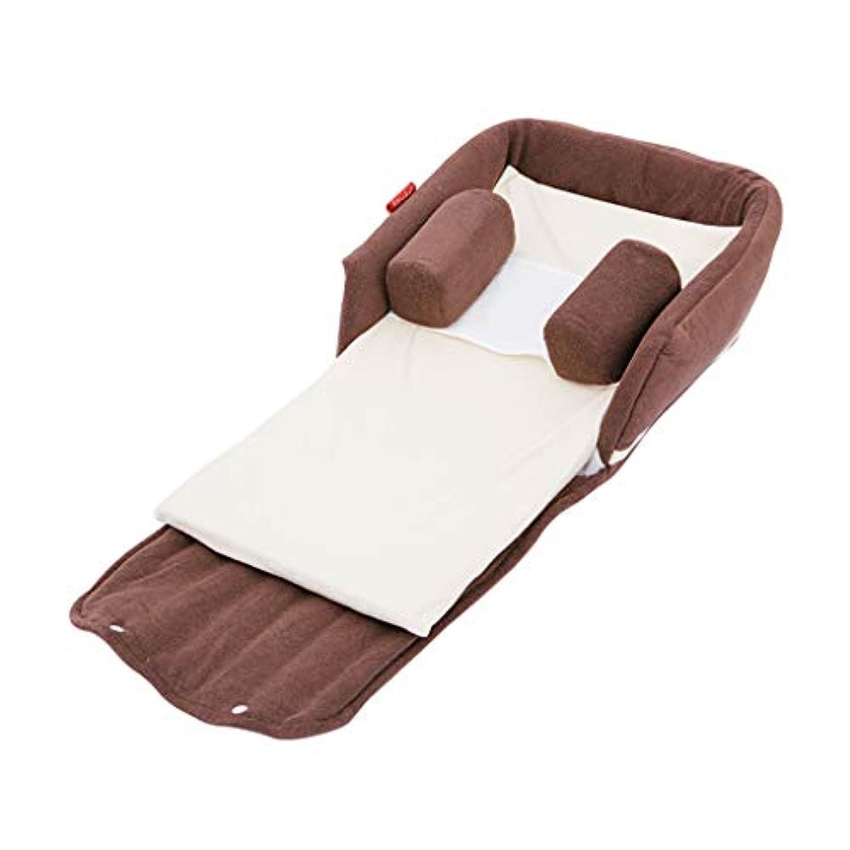 ベビーベッドポータブルクレードルベッド折りたたみ式防滴ミルクベビーベッド多機能アンチプレッサーベッド安全性バイオニックベッド (Color : Brown, Size : 87 * 40 * 18.5cm)