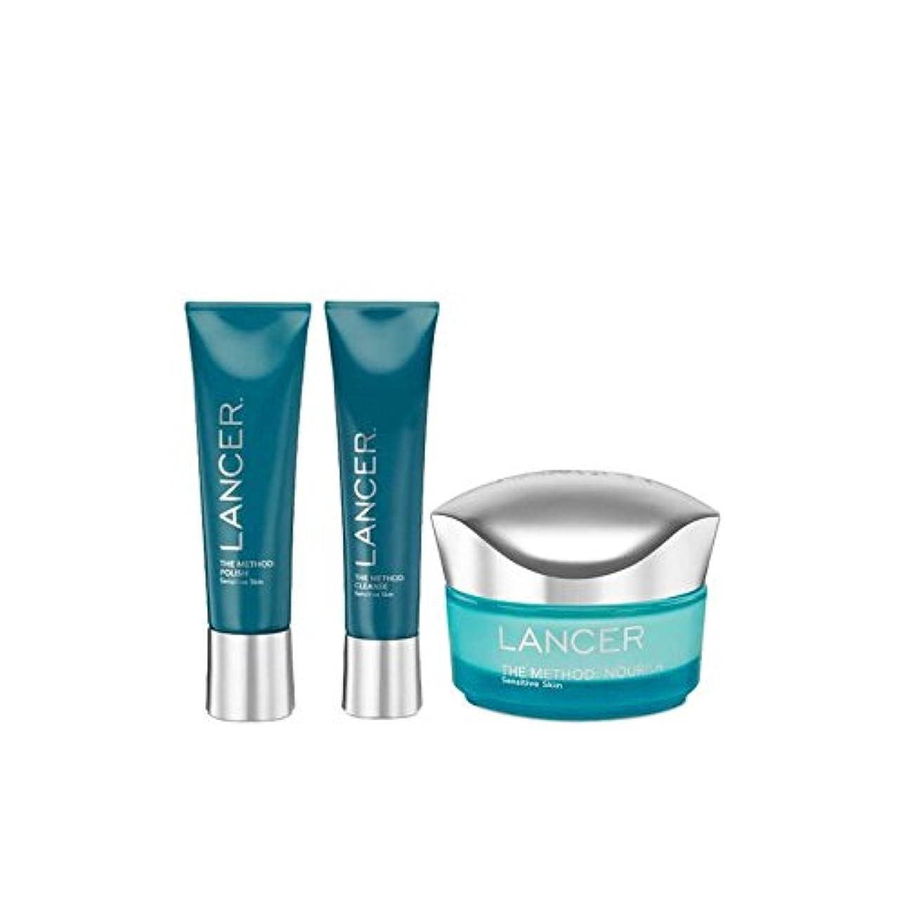 弱い杖お別れランサーランサー方法が敏感スキンケア x4 - Lancer Skincare The Lancer Method Sensitive (Pack of 4) [並行輸入品]