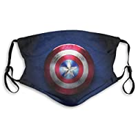 Super Hero Outdoor Mask,Protective 5-Layer Activated Carbon Filters Adult Men Women Bandana Shield
