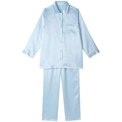(ワコール 睡眠科学) Wacoal 睡眠科学 シルクサテン 女性用 シャツパジャマ YDX512 SX L