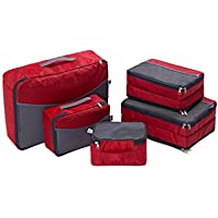 Travel Luggage Organizer–Ufine(2018 New Design) Double Sided Carryon Lightweight Luggage Bag Organizers for Women Men and Kids Including 5set Heavy Duty Packing Cubes