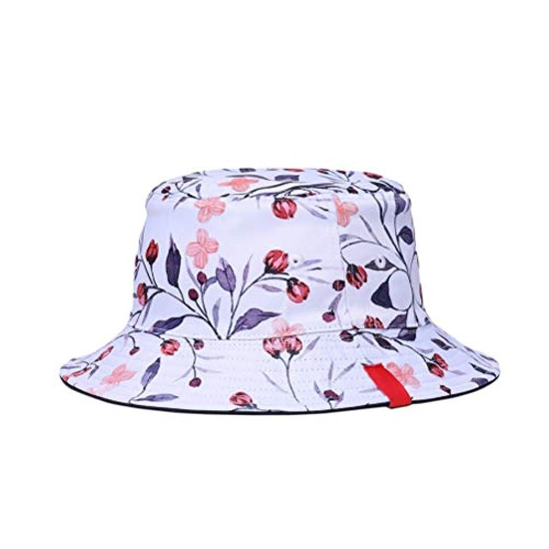 打たれたトラック高音現れる両面リバーシブルバケットハット3Dプリント漁師の帽子夏の春の帽子カジュアルSunhat男性用女性(ツバキ)
