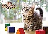 トライエックス 子猫の マンチカン 2019年 祝日訂正シール付き カレンダー CL-362 壁掛け 51×36cm
