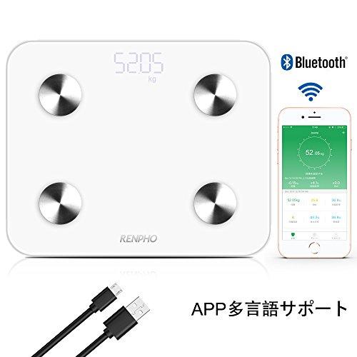 RENPHO 体組成計 USB充電式体重計 体脂肪計 スマート...