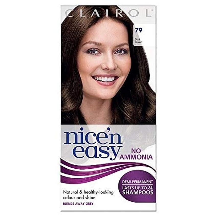 できればまとめるショートカット[Nice'n Easy] Nice'N簡単に何のアンモニアの染毛剤ませんダークブラウン79 - Nice'n Easy No Ammonia Hair Dye Dark Brown 79 [並行輸入品]