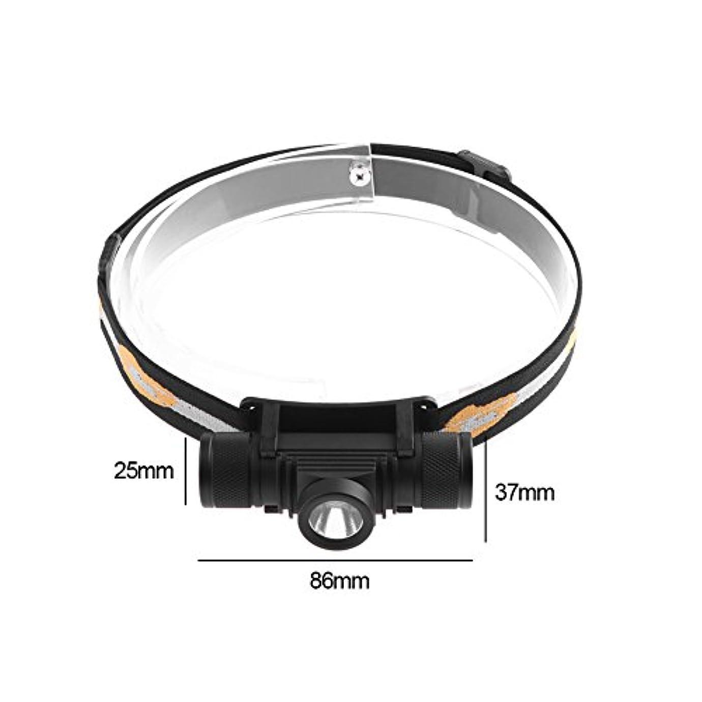 吸収芽混合SIKIWIND 2018新しい ヘッドライト LEDヘッドライト  サイクリング自転車ヘッドライト  懐中電灯 LED懐中電灯 USB充電式 防水釣りライディングヘッドライト