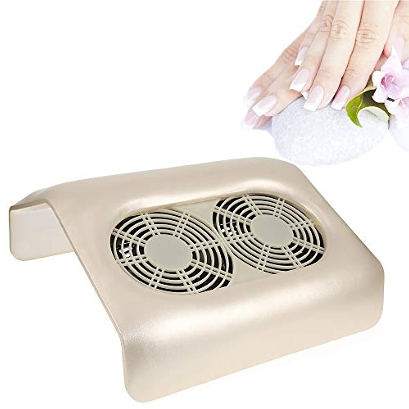追加水を飲む受け入れた2ファンマニキュアネイルアートジェルニス研磨ダスト吸引コレクターネイルダストコレクターのための掃除機
