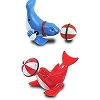 幼児期のゲーム 子供の鎖のおもちゃクリエイティブなパズル鎖の漫画のおもちゃ(イルカのスタイルのランダム)