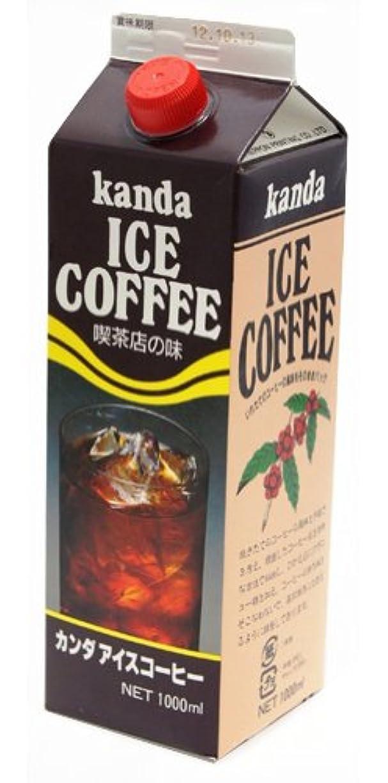 水陸両用背骨なので神田食品研究所 アイスコーヒー 1000ml