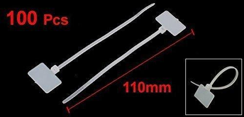 [해외]Yammy 나일론 마커의 배선 타이 파워 케이블 100 개 세트 내구성 태그 지퍼 타이 케이블 타이/Yammy nylon marker wiring tie power cable 100 pieces set durability tag zip tie cable tie