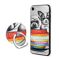 アイフォン 7/8 保護カバー ケース カラフル カップ 犬 スマートフォン シリコン ソフトハード IPhone 7/8