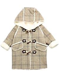 f86f50dc4031ff [えみり] 子供コート 女の子 キッズコート フード付き チェック柄 ジャケット アウター ダッフルコート